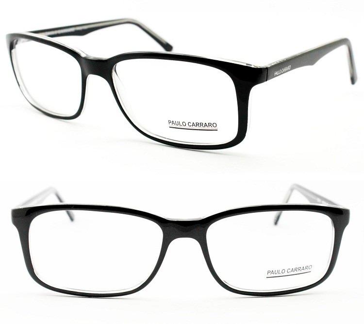 ea81f3bddd07e Armação Óculos De Grau Para Rosto Grande Tamanho 60 - 1718 - R  195 ...