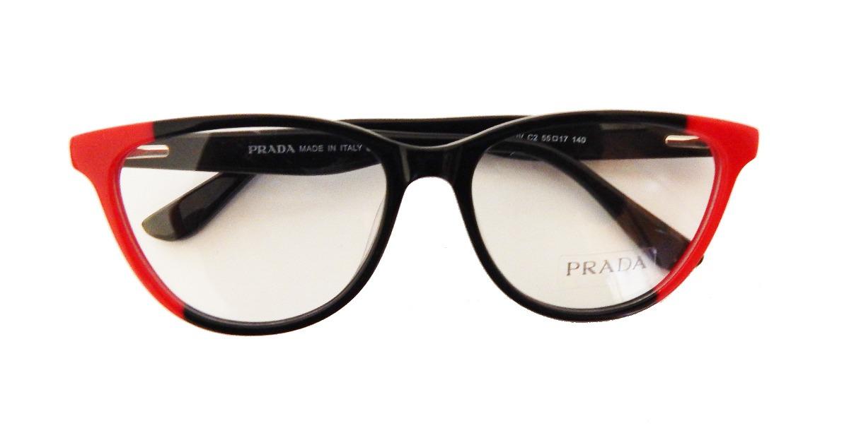 b21de2ac2e158 armação óculos de grau prada pr05 feminino preto - original. Carregando  zoom.