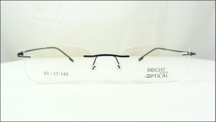 6486a2698 Armação Óculos De Grau Preta Feita De Titanium Sem Aro A437 - R$ 69 ...