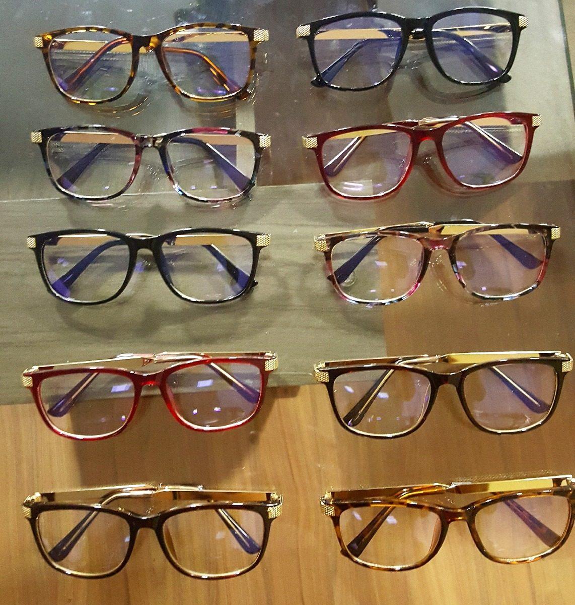 Armação Óculos De Grau Quadrada Feminino Frete Grátis - R  85,00 em ... 0bdce4a9b7