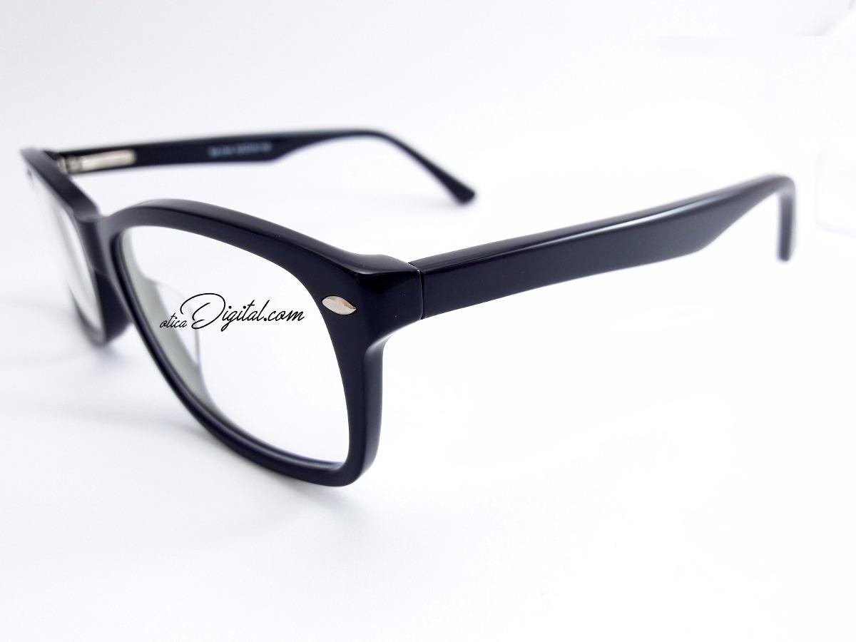 6ab00eddd armação óculos de grau quadrada grande preto feminino mba044. Carregando  zoom.