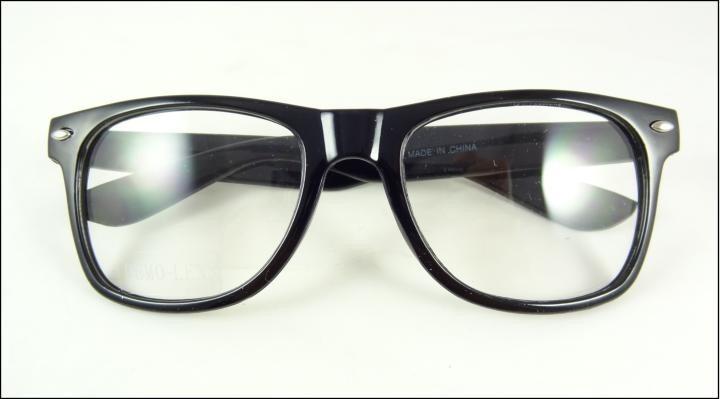 6e2f61678e1c0 Armação Oculos De Grau Quadrada Preta Lentes Sem Grau - A441 - R  49 ...
