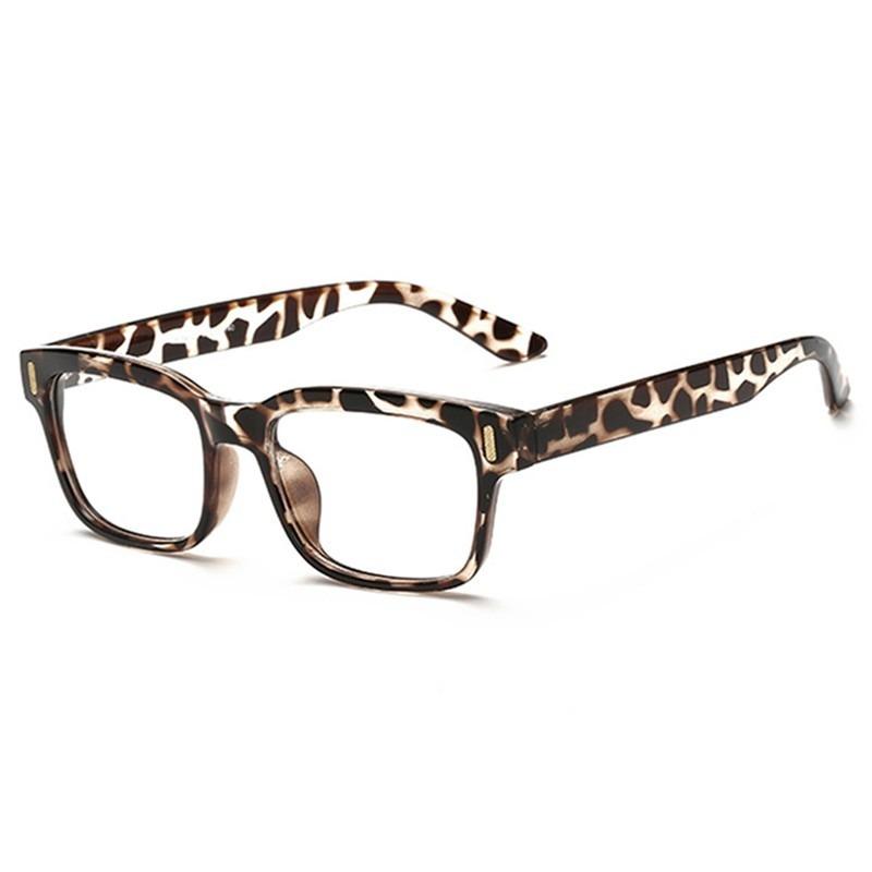ebfb57cde695c armação óculos de grau quadrado grande leopardo feminino ca. Carregando zoom .