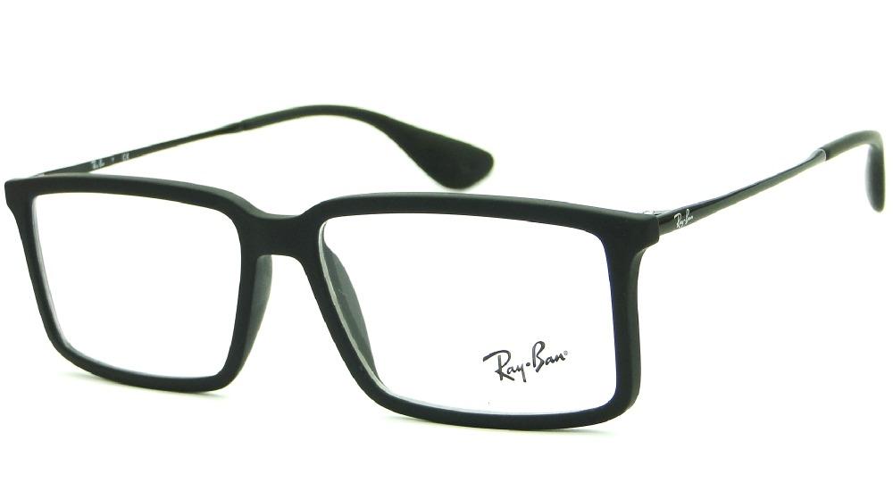 8537641c3 armação óculos de grau ray ban rb 7043 5364 retrô masculina. Carregando  zoom.