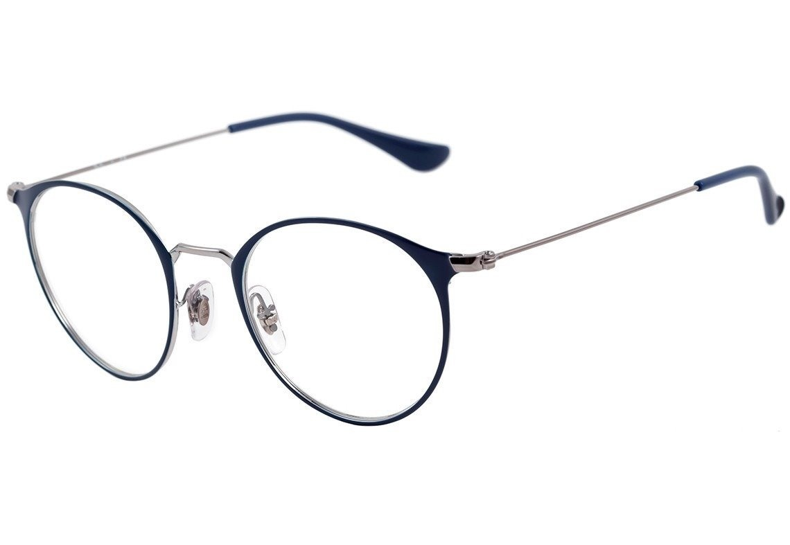 ab0857889fe08 armação óculos de grau ray ban rb6378 redondo. Carregando zoom.