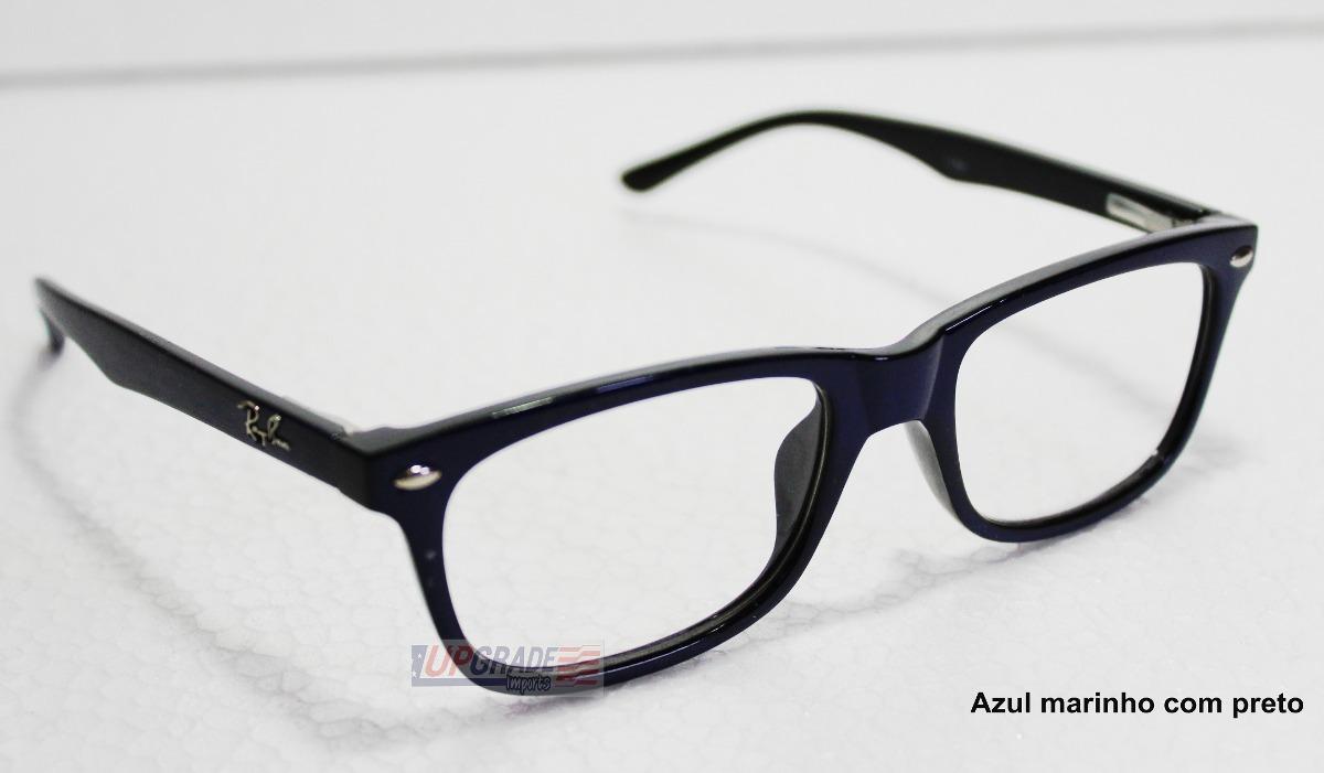c1105b2b01b0f armação oculos de grau rayban rb 5228 preto basico barato. Carregando zoom.
