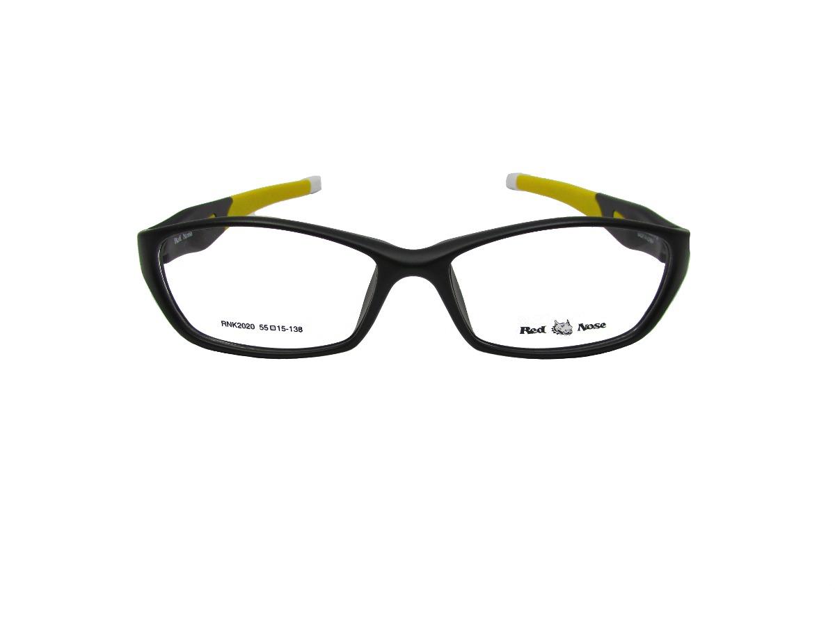 4786661ec armação óculos de grau red nose preto e amarelo masculino. Carregando zoom.