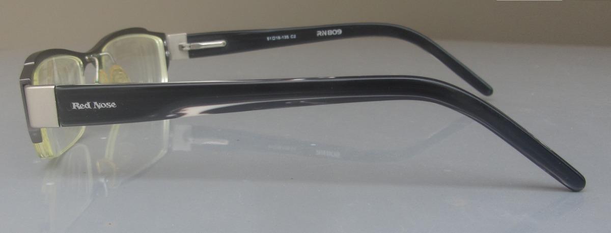 248f4bb098d55 armação óculos de grau red nose preto e grafite masculino. Carregando zoom.