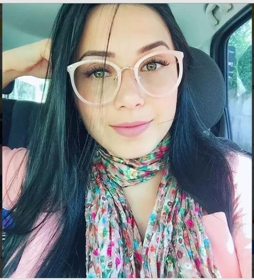 Armação Óculos De Grau Redondo De Oncinha Feminino Geek - R  68,00 ... 0aa4a47b3d