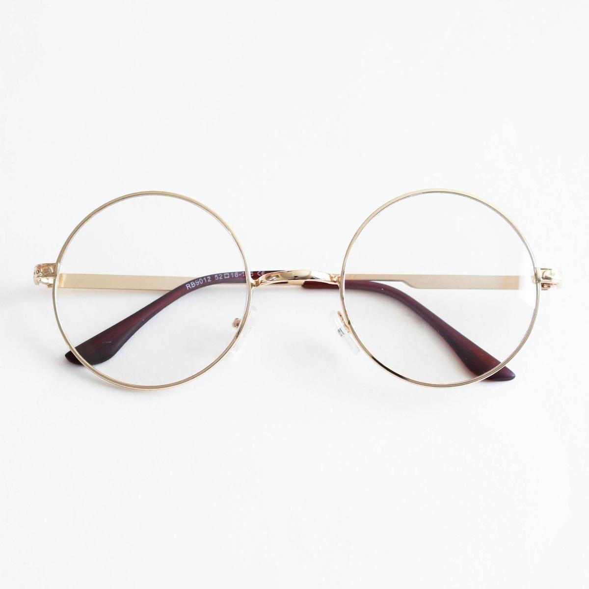 33f45d3564746 Armação Óculos De Grau Redondo Geek - R  69