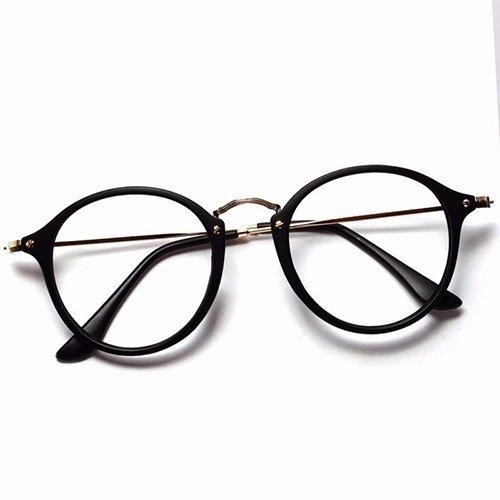 0cd0ec2c4358b Armação Óculos De Grau Redondo Masculino Feminino Brinde - R  59