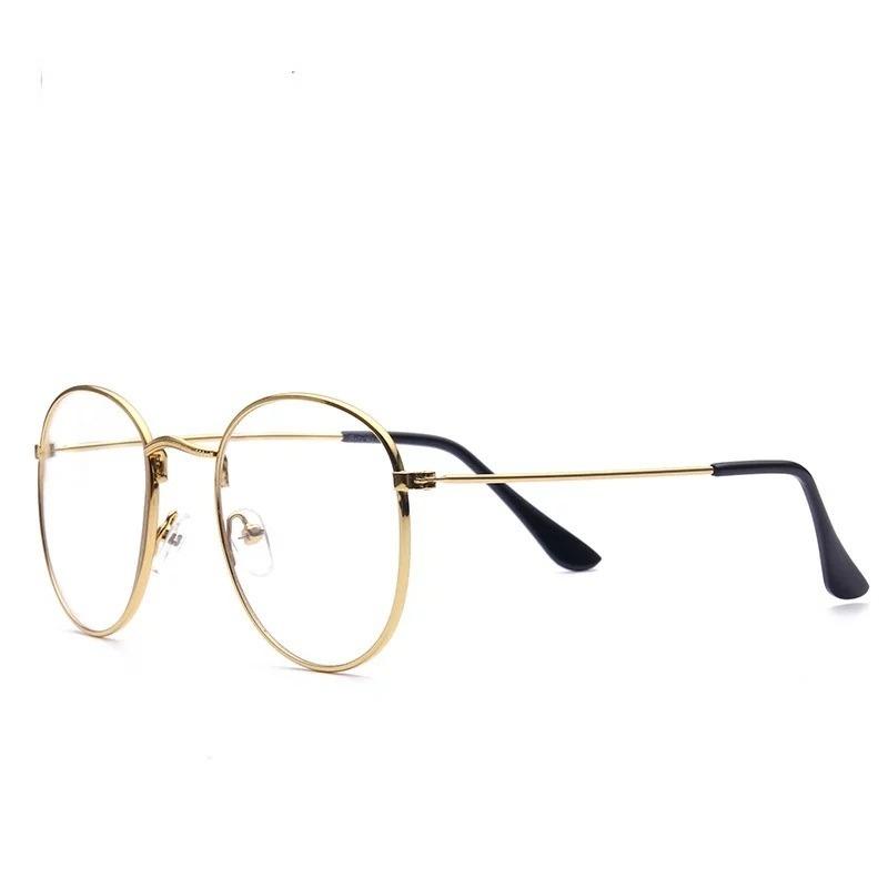 c632efb7c176a Carregando zoom... armação óculos de grau redondo masculino feminino geek  metal