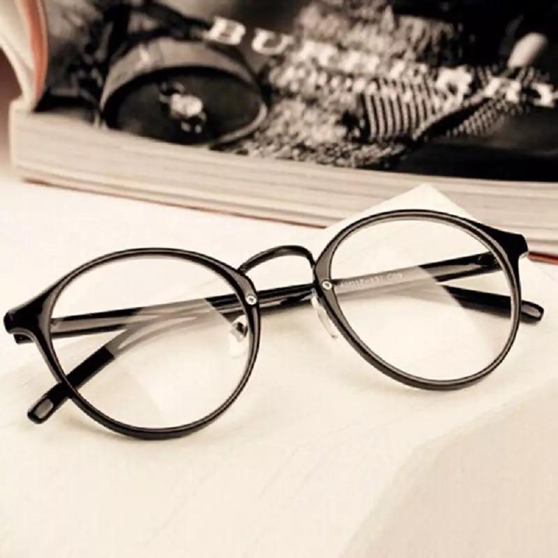 6f6033a9c4bf1 armação óculos de grau redondo masculino feminino geek retrô. Carregando  zoom.