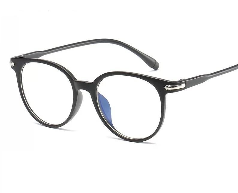 1a9513110b3ad Armação Óculos De Grau Redondo Retro Vintage Unissex Preto - R  39 ...