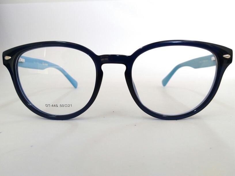 7b7b4fa8d armação óculos de grau redondo vintage azul escuro dt-445-c4. Carregando  zoom.