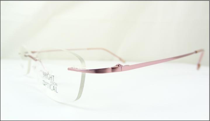 29dc9e2f0912f Armação Óculos De Grau Rosa Sem Aro Feita De Titanium A540 - R  69 ...