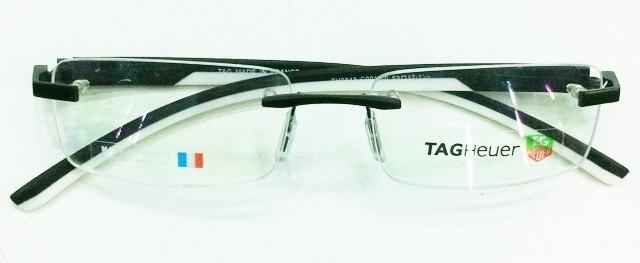 Armação Oculos De Grau Sem Aro Th0843 Preto Branco Silicone - R  93 ... 7ac96f6169