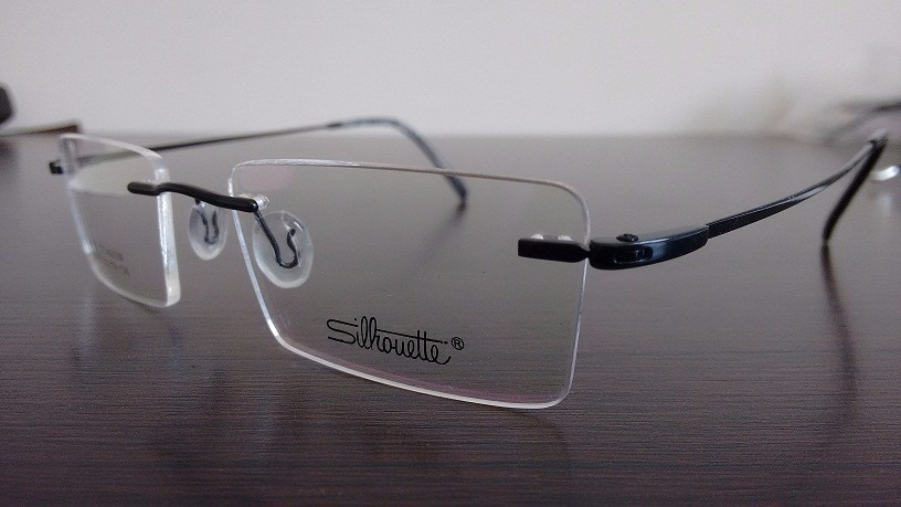 5f5feedbb0dbe armação óculos de grau sem aro titanium titanio silhouette. Carregando zoom.