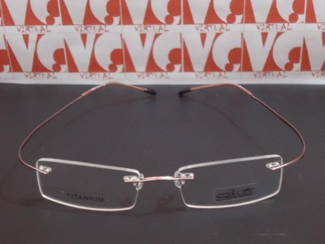 4130fe2b19385 Armação Óculos De Grau Silhouette B668 Flexivel Rosa Linda - R  84 ...