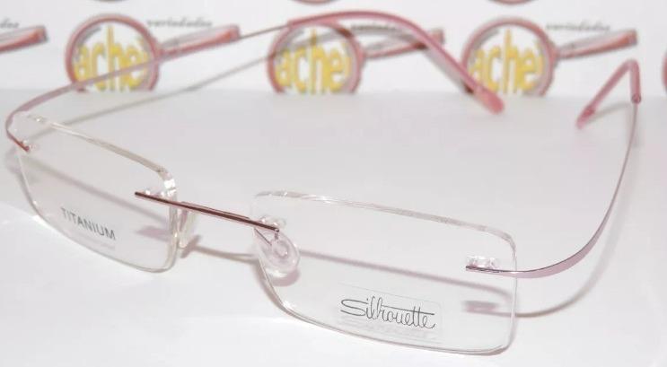 54eebd034bc31 Armação Oculos De Grau Silhouette Sem Aro Titanium Feminina - R  79 ...