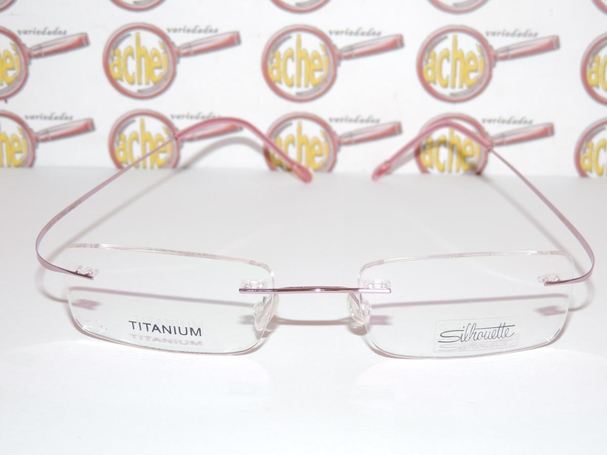 36edd754f armação oculos de grau silhouette sem aro titanium rosa. Carregando zoom.