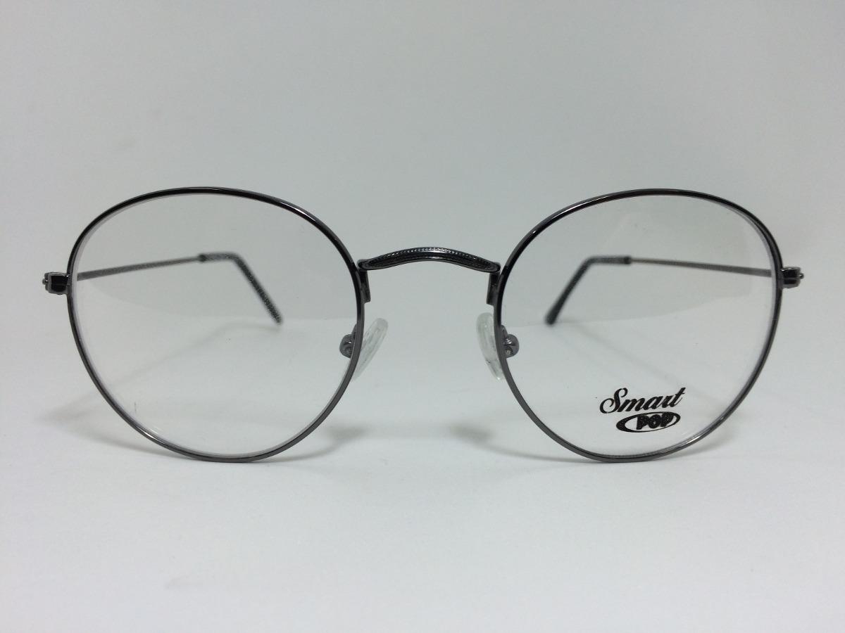 b761dc8573199 Armação Óculos De Grau Smart 314 C28 Redonda Prata - R  119,90 em ...