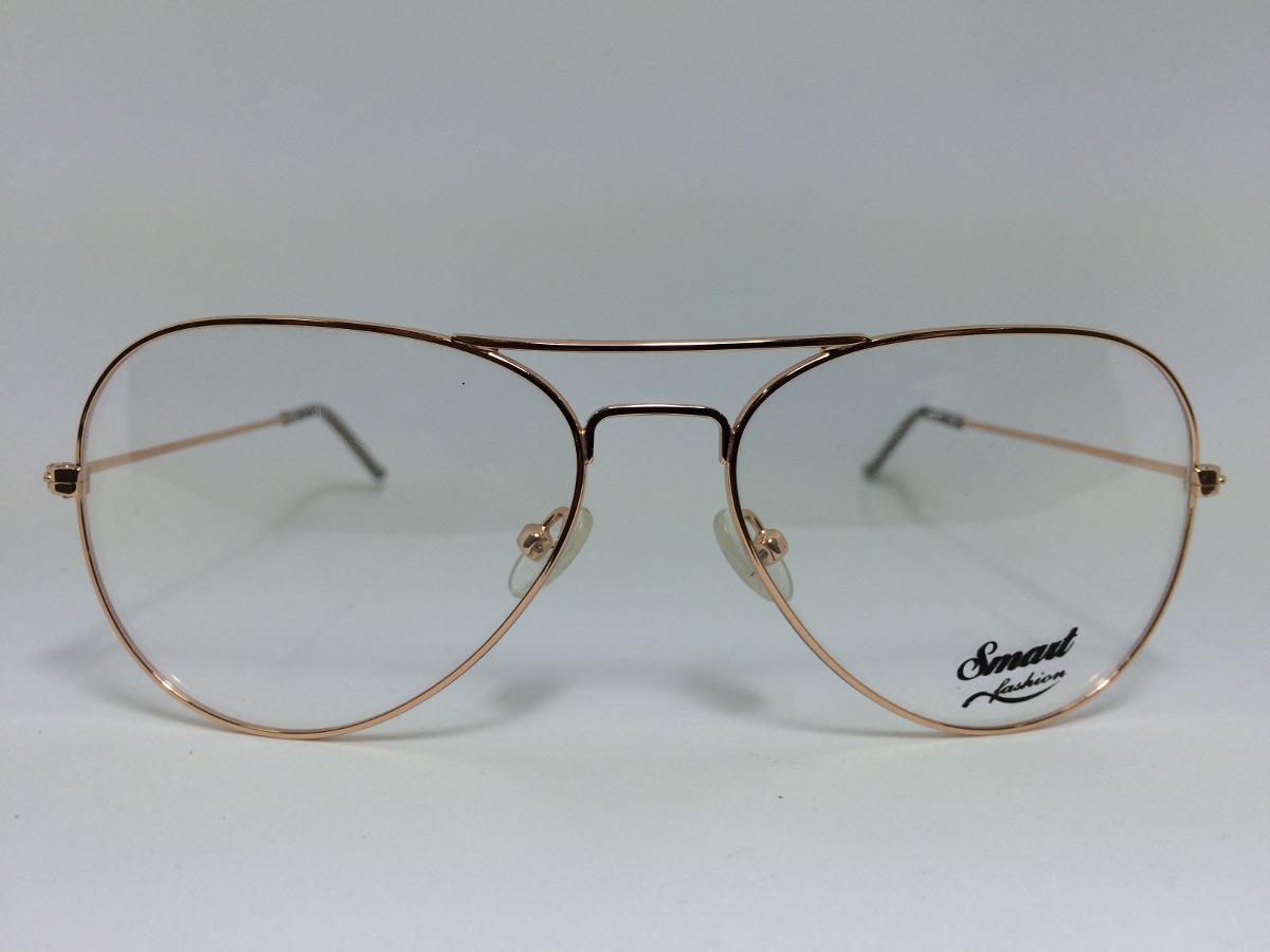99bbcc1c03c6f armação óculos de grau smart 607c42 aviador para rosto médio. Carregando  zoom.