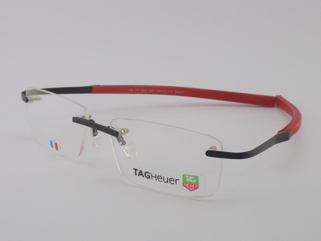 armação óculos de grau tag heuer 0341 preto com vermelho. Carregando zoom. 05fdd12d91