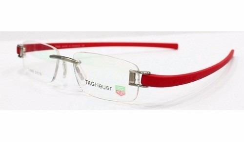 44e357868e03d Armação Óculos De Grau Tag Heuer Silicone Vermelha Th-5069 - R  89 ...