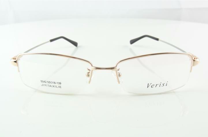 Armação Oculos De Grau Titanium Dourada Rosê Meio Aro - A770 - R  69 ... a587d9abea