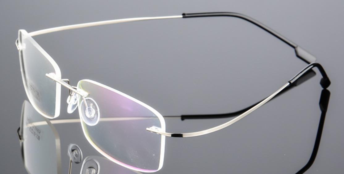 8c8412d61 armação óculos de grau titânio flexível dobrável sem aro. Carregando zoom.