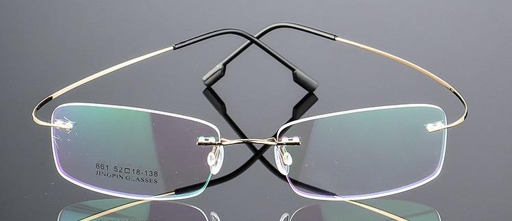 42c286461 Armação Óculos De Grau Titânio Sem Aro Flexível Promoção A07 - R$ 44 ...