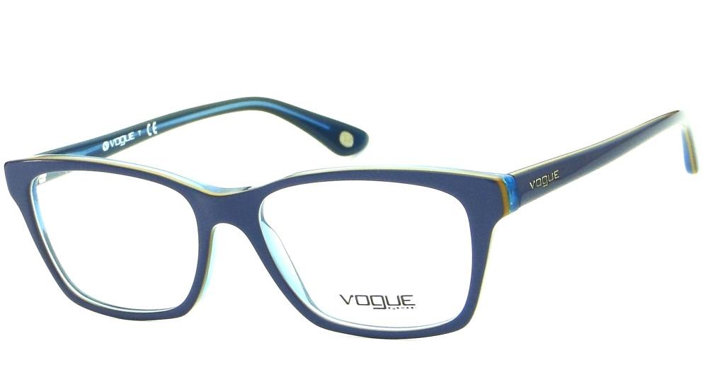 000683ef9447e armação óculos de grau vogue vo 2714 azul retrô feminino. Carregando zoom.