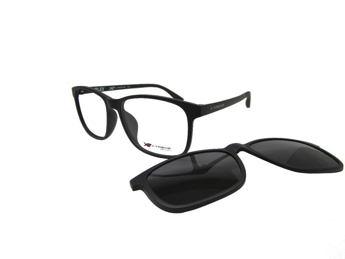 armação óculos de grau x-treme duplex clipon preto masculino. Carregando  zoom. e573a94dfc