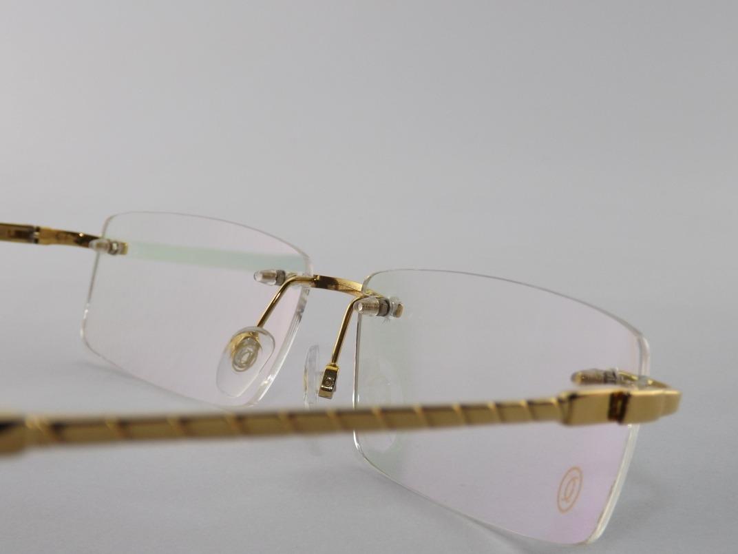 1361d02fc Armação Óculos Deu Grau Cartier Gold Lançamento 2018 - R$ 139,00 em ...