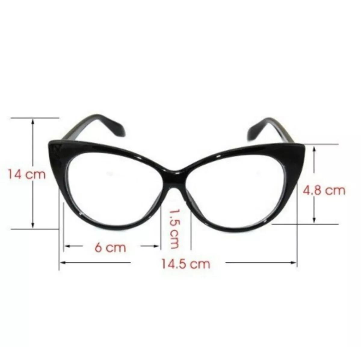 17a34bfe831 Armação Oculos Grau Dior Gatinho + Gràtis Grau Perto 1 A 4 - R  48 ...