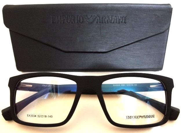 3a1115c1e7c80 Armação Óculos Ea3034 Masculino Varias Cores + Estojo - R  120,00 em ...