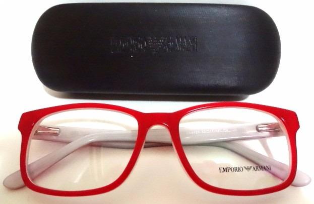 998445e9a Armação Óculos Ea8121 Vermelho E Gelo Masculino Feminino - R$ 120,00 ...