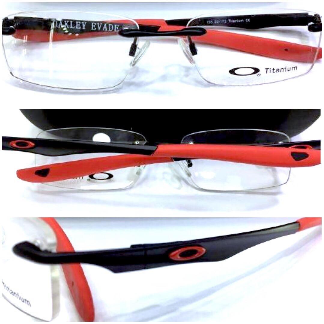 1f080a6131bcf Armação Para óculos De Grau Oakley Evade Grafite Com Preto « One ...
