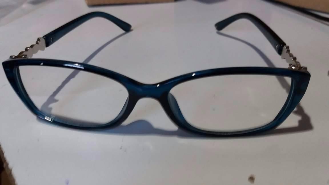 0c390c0d4b1a9 armação óculos feminino acessório descanso novo c  strass za. Carregando  zoom.