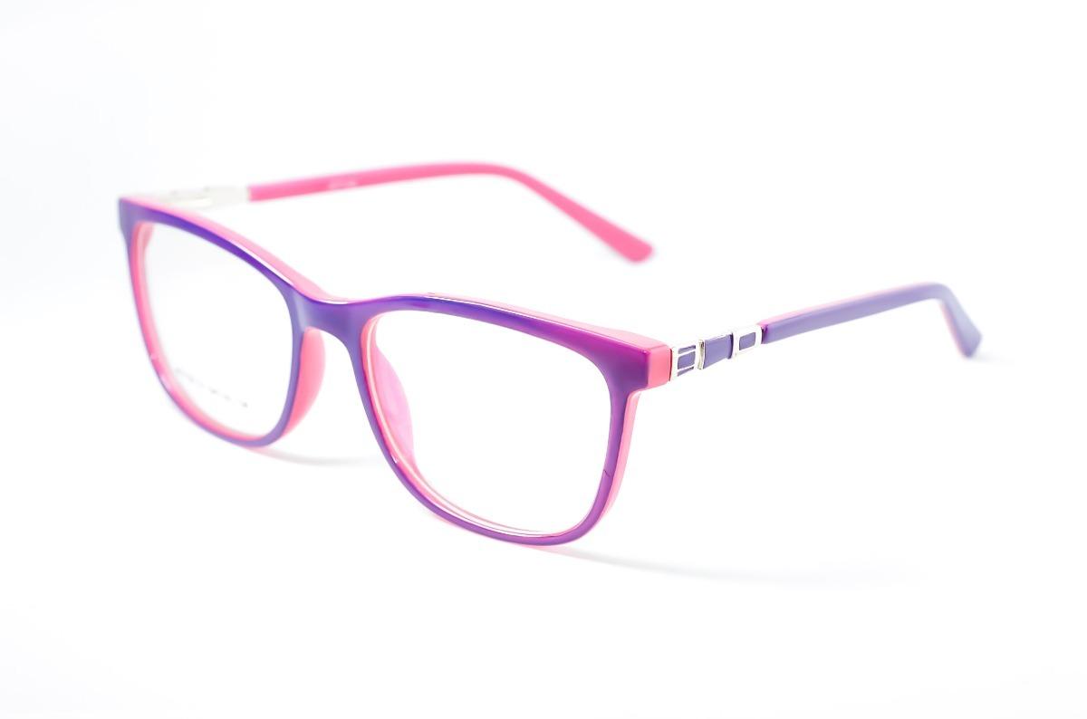 armação oculos feminino acetato quadrado roxo e rosa jc7130. Carregando  zoom. 325819fd7a