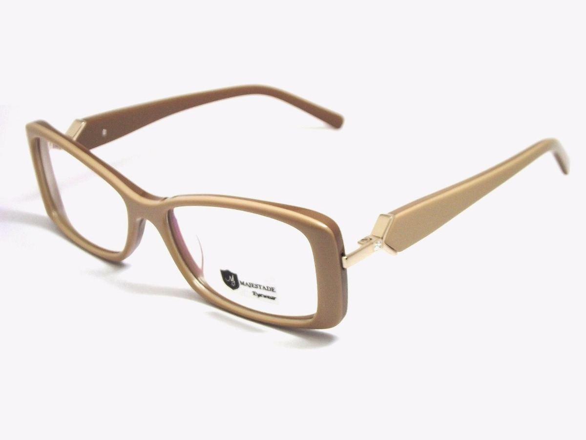 7d6e33ebeed5c armação óculos feminino acetato retangular marrom 13120b mj. Carregando  zoom.