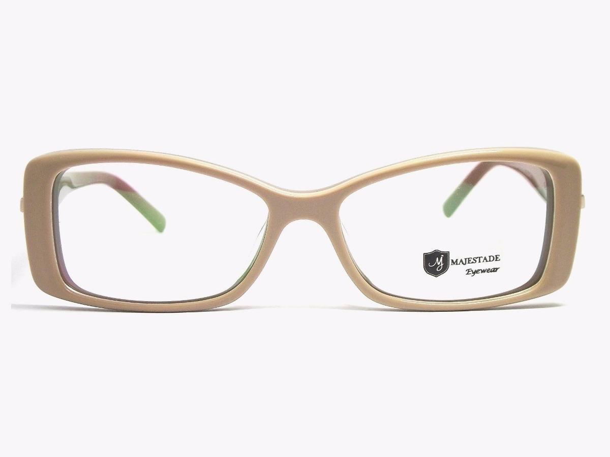 ffefc2bde8b58 armação óculos feminino acetato retangular marrom 13120b mj. Carregando  zoom.