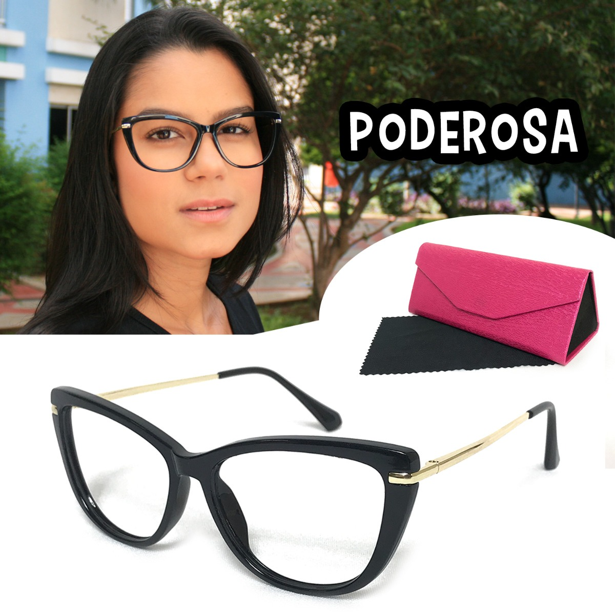 95d9a8bca1675 Armação Óculos Feminino Barato Retrô Vintage Geek Luxo 7203 - R  59 ...