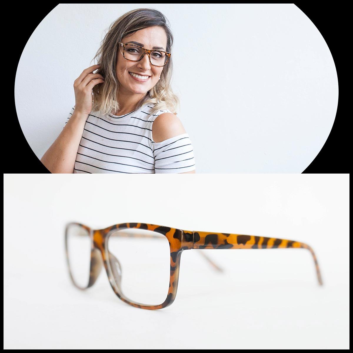 d55cbff1b armação óculos feminino com lente sem grau zf8811 (3 cores). Carregando zoom .