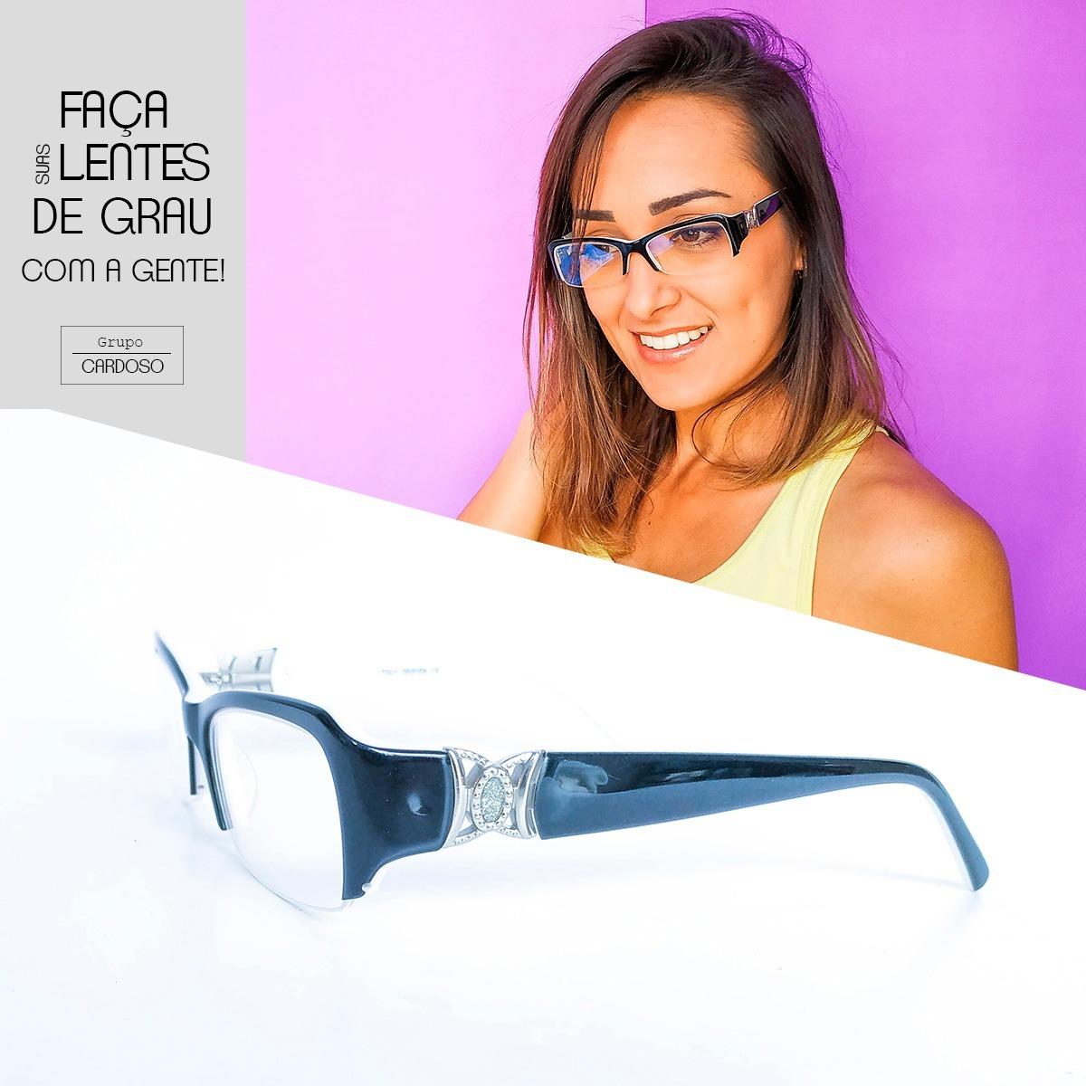 c10b1470f Armação Óculos Feminino Com Lentes S/ Grau Bc8048 - R$ 65,77 em ...