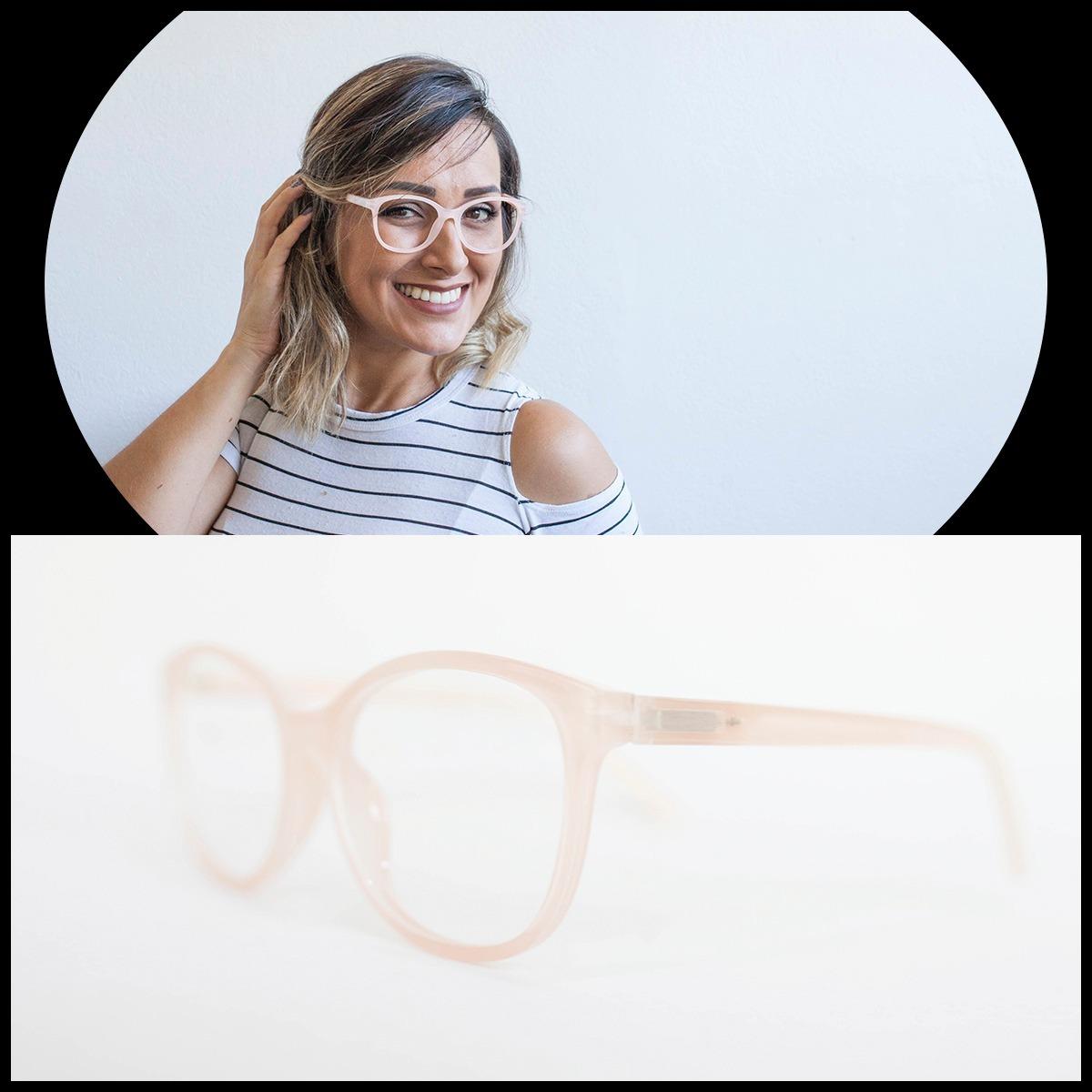59fc4339fe904 armação óculos feminino com lentes sem grau 51188 (4 cores). Carregando  zoom.