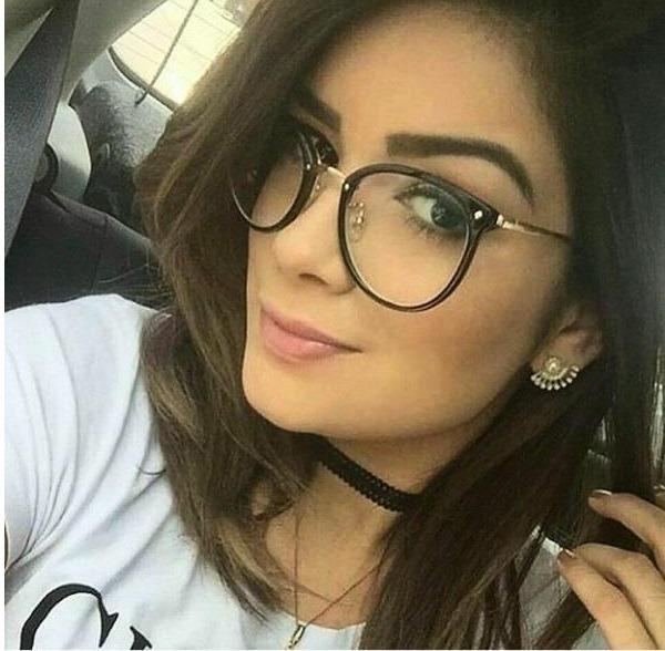 Armação Oculos Feminino Em Acetato Geek Vintage Gato P  Grau - R  47 ... 0da65d426f