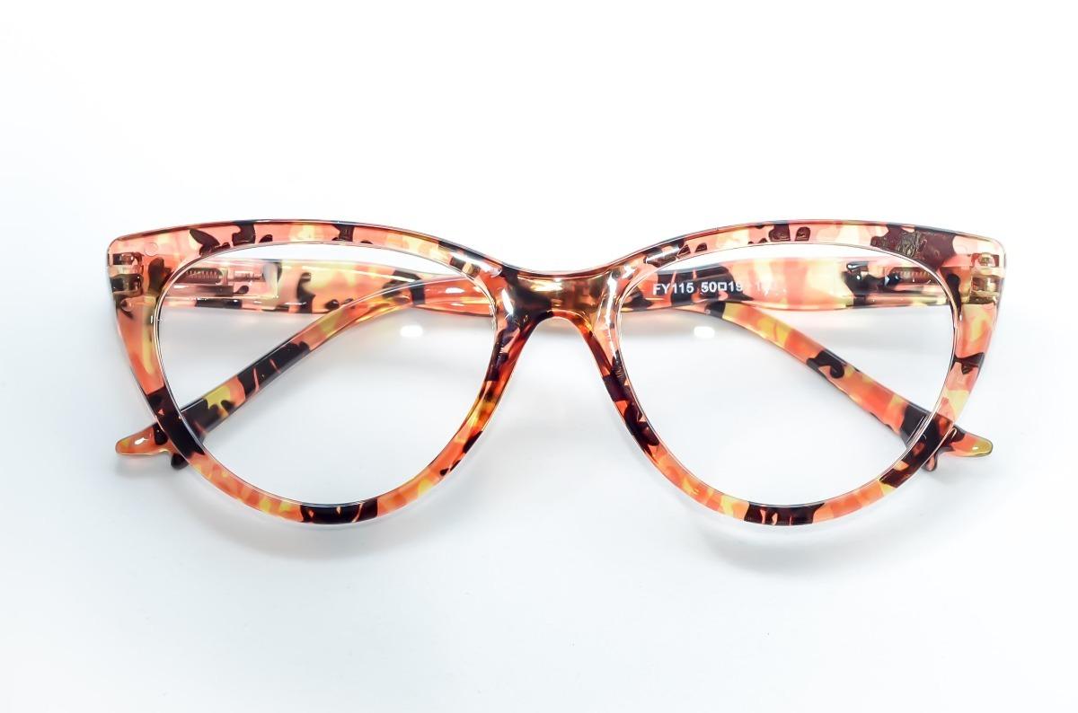 c09f8db6238a5 armação oculos feminino gatinho pinup fogo linda moda retro. Carregando  zoom.