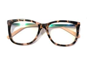 ec69c7768 Armação Oculos Feminino Gatinho Vintage Quadrado Acetatos